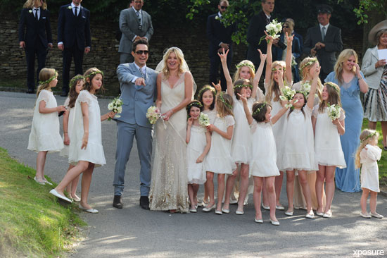 Kate Moss' wedding day, photographer Mario Testino, Vogue US, daughter Lila Grace, bridesmaids