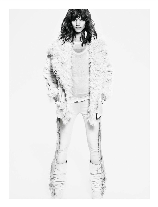 Freja Beha Erichsen for Isabel Marant F/W 2011-12 by Mario Sorrenti, advertising campaign, fashion
