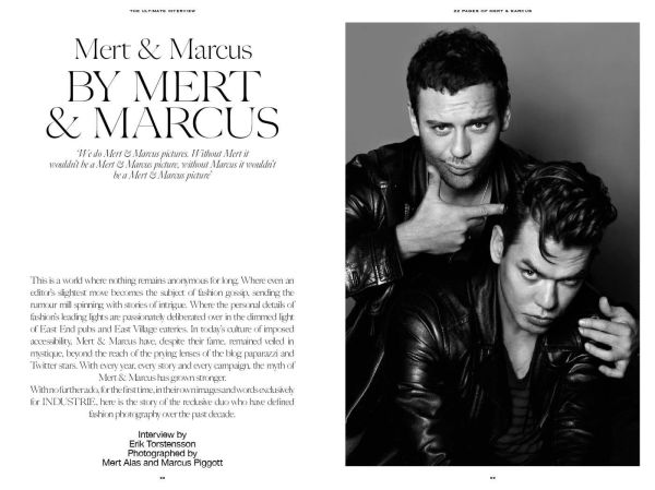 Mert & Marcus by Mert & Marcus, fashion photographers, Industrie magazine