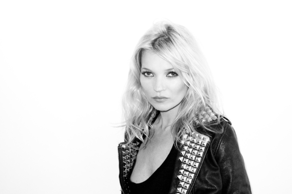 Kate Moss in studded leather jacket by Terry Richardson