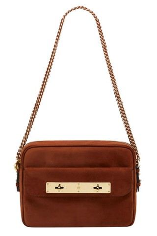 Mulberry Carter Camera bag, fox brown suede colour