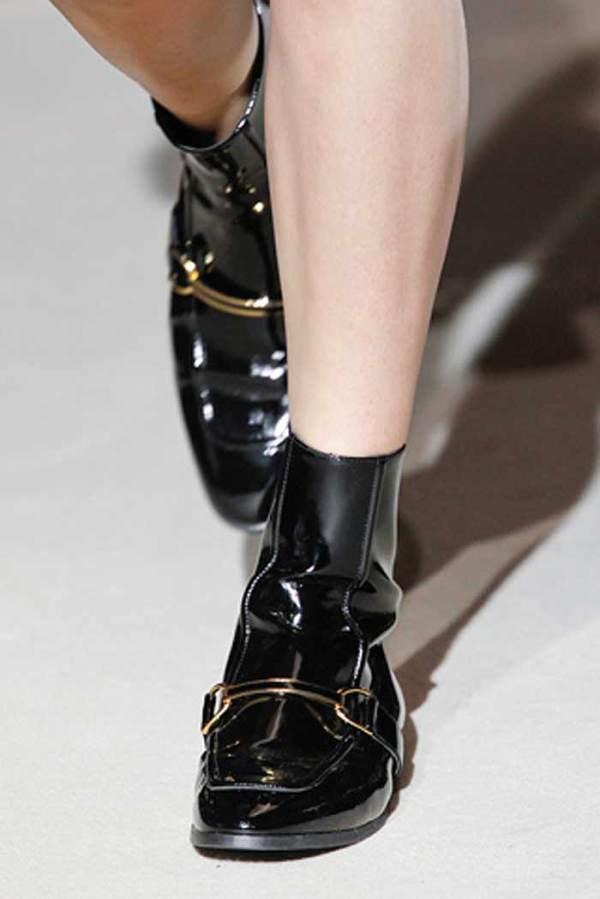 Stella McCartney Morgana patent low boots, luisaviaroma, trend 2011, autumn fall winter
