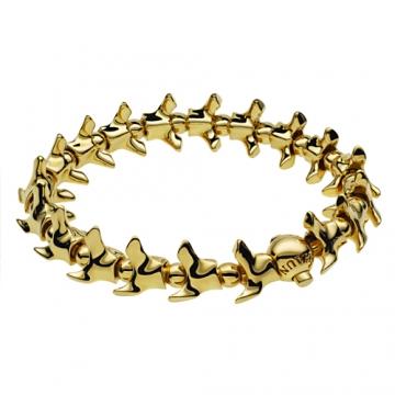 Shaun Leane Silver & Gold vertebrae bracelet , jewellery,