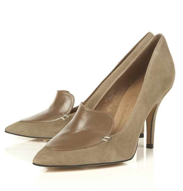 Topshop Garland Green Suede Leather Panel Pointed Court Shoes, Celine 11cm pump in Black/White brushed calfskin leather