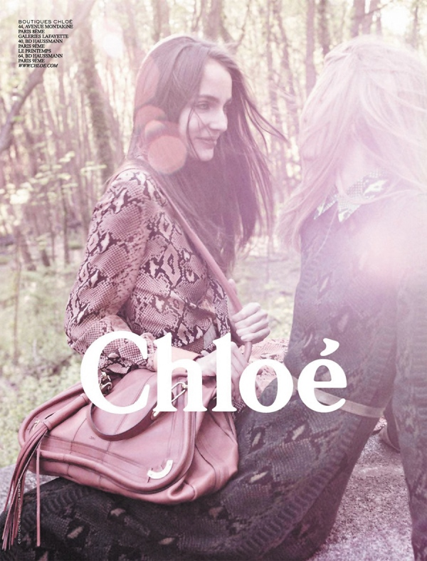 Sigrid Agren and Zuzanna Bijoch by David Sims Chloé F/W 2011-12 advertising campaign