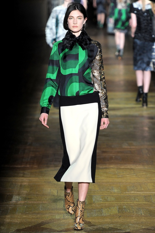 Dries Van Noten F/W 2011-12 fashion collection, snakeskin boots,