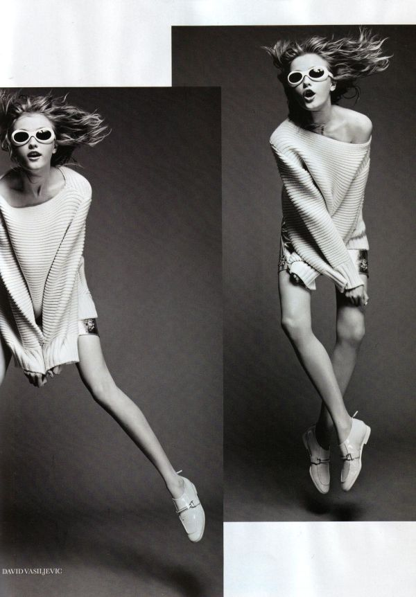Vlada Roslyakova by David Vasiljevic UK Elle September 2011 fashion editorial