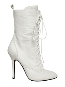 balmain white lace up boots fall winter 2011 collection fashion
