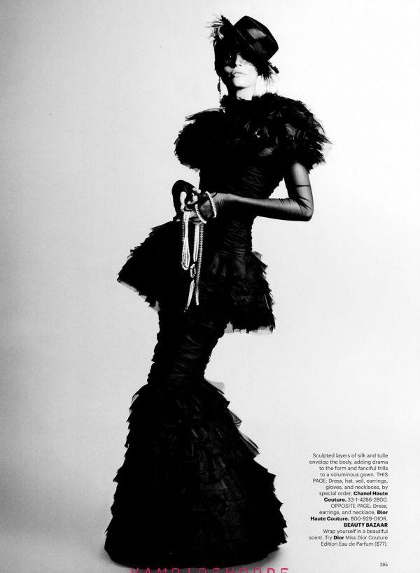 Candice Swanepoel by Karl Lagerfeld US Harper's Bazaar October 2011