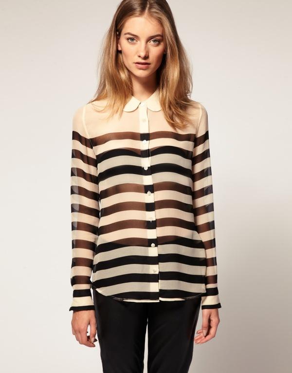 Striped silk shirt by Equipment, ASOS, Net-a-porter, EQUIPMENT Sophie striped silk-chiffon shirt