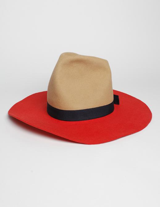 Federica Moretti Wide Brim Rabbit Wool Hat