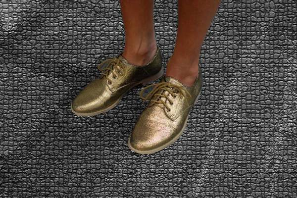 Forever 21 metallic gold oxfords, shoes, brogues,