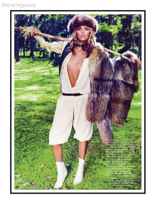 Anja Rubik by Inez van Lamsweerde & Vinoodh Matadin Vogue Paris September 2011 stylist Melanie Ward