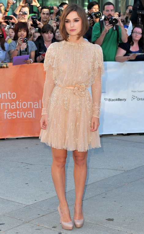 Keira Knightley in Elie Saab Autumn/Winter 2011 Haute Couture collection, Toronto International Film Festival, fashion,