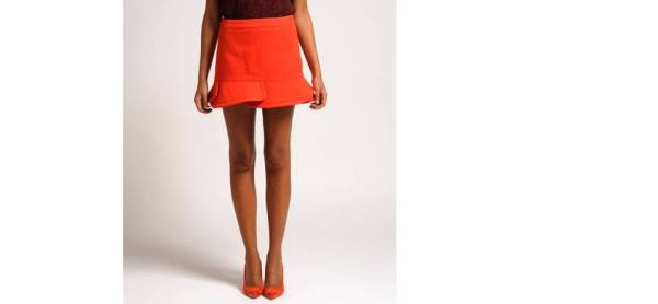 Maje jupe orange immo skirt