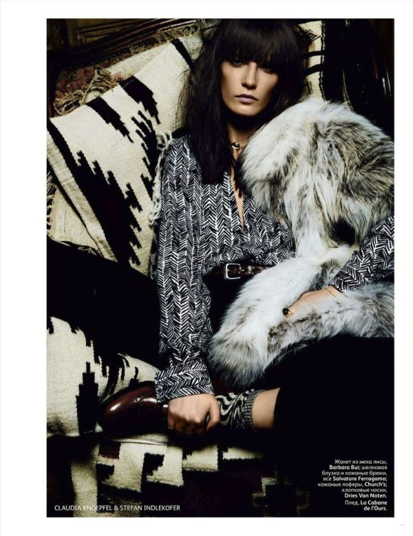 Valeria Kelava by Knoepfel & Indlekofer styled by Veronique Didry for Vogue Russia September 2011