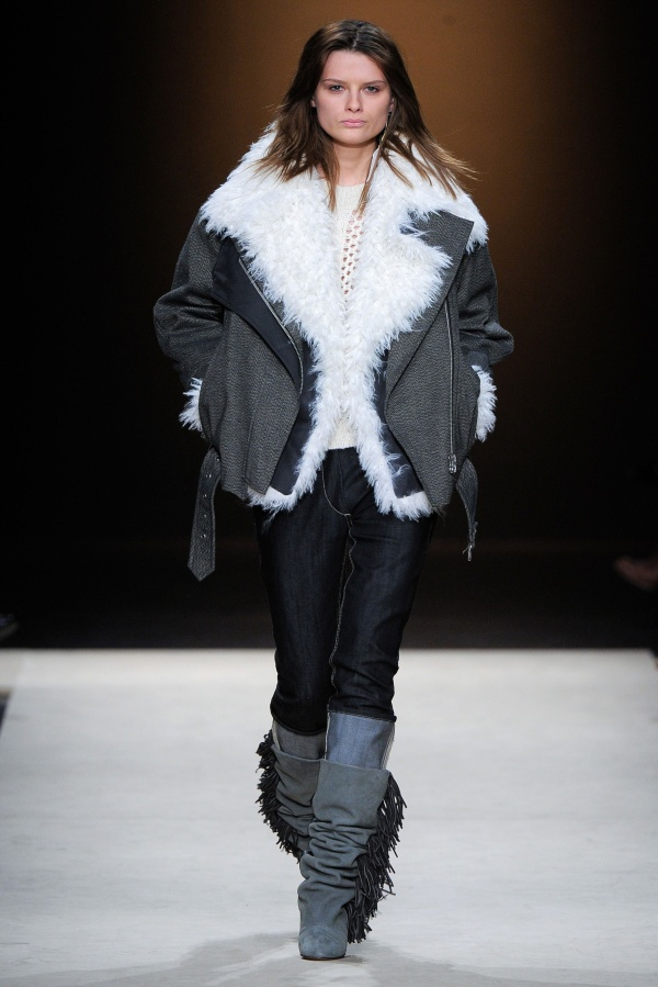 Isabel Marant Fall/Winter 2011 collection shearling jacket