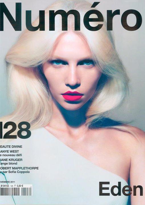 Aline Weber by Camilla Akrans  Numéro #128 November 2011 magazine cover