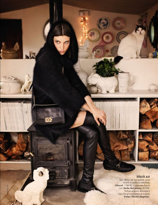 Elle France n°3430 chanel boy bag, stella mccartney boots fall winter 2011