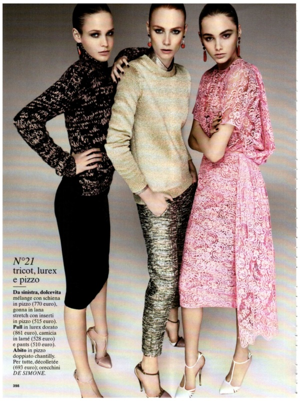 models wearing No21 collection Photographed by Giampaolo Sgura Glamour Italy October 2011