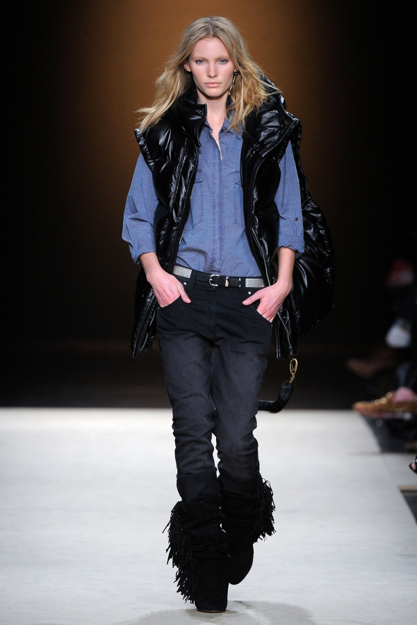 Isabel Marant Oversized quilted leather gilet paris fashion week Fall/Winter 2012