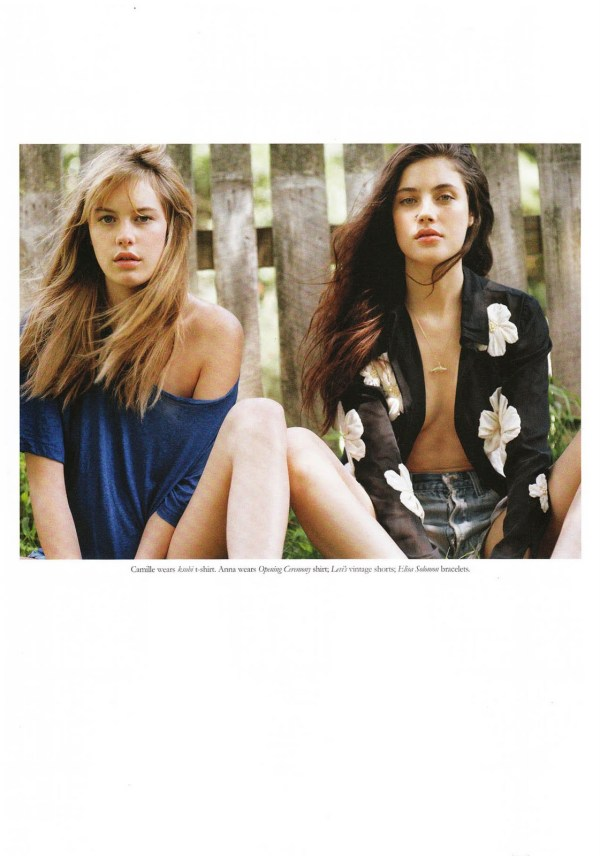 Anna Speckhart and Camille Rowe by Dan Martensen Russh October / November 2011