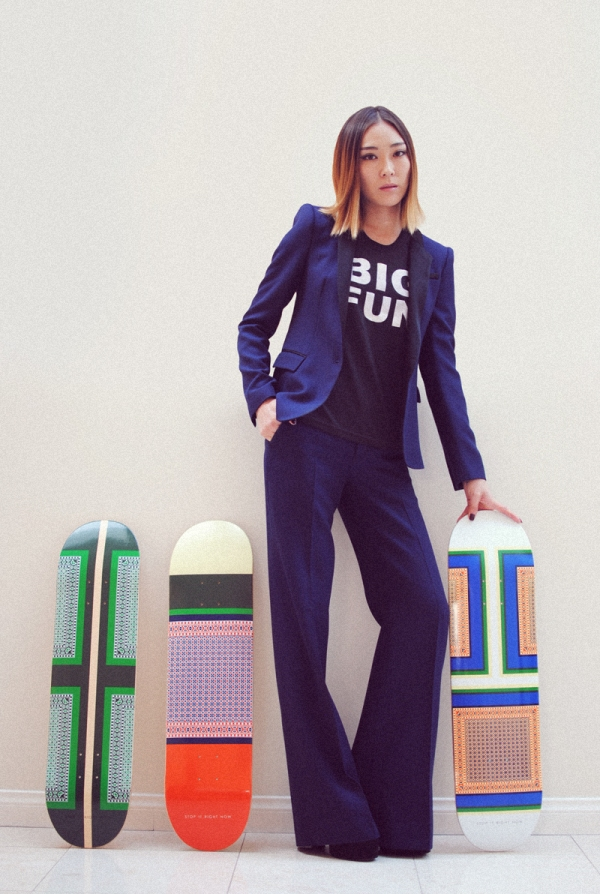 Stop It Right Now Celine inspired skate decks, blogger Jayne from Stop It Right Now