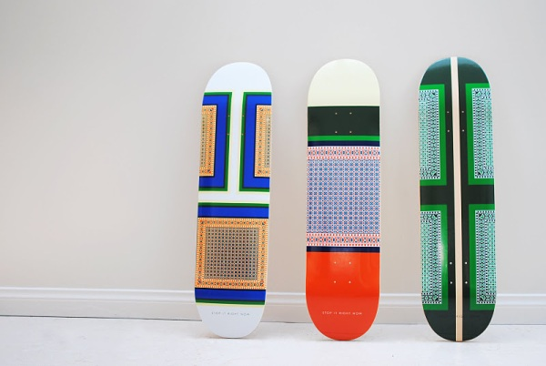 Stop It Right Now blog Celine inspired skate decks