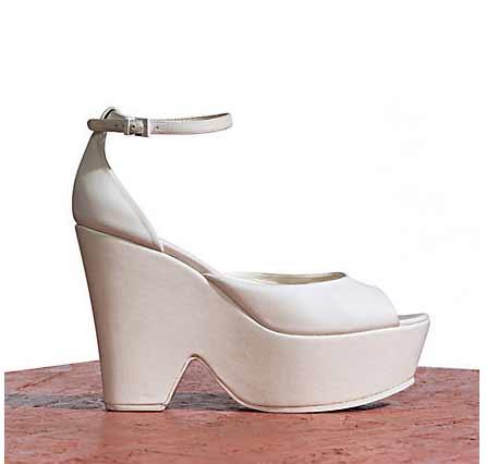 Celine 7cm platform sandal in optic white lambskin spring 2012