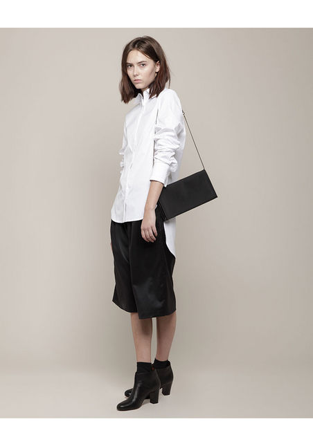 Pleat Clutch with Chain by Isaac Reina, la garconne
