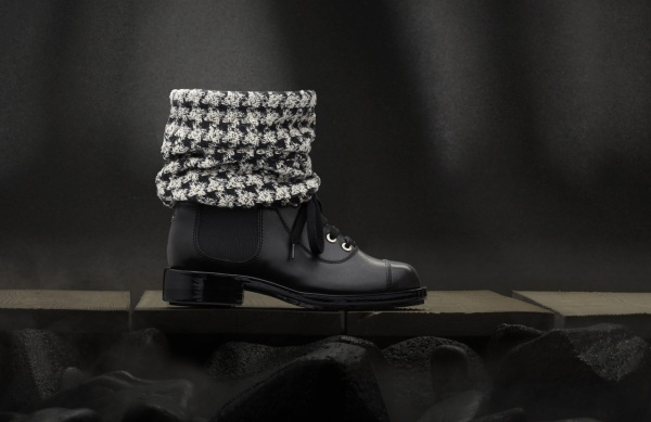 Chanel Winter 2011 lace up combat boots, Chanel