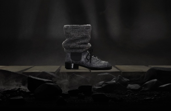 Chanel lace up boots , chanel winter 2011-2012 collection