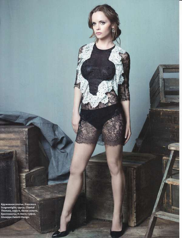 Christina Ricci by David Slijper wearing Francesco Scognamiglio InStyle Russia September 2011
