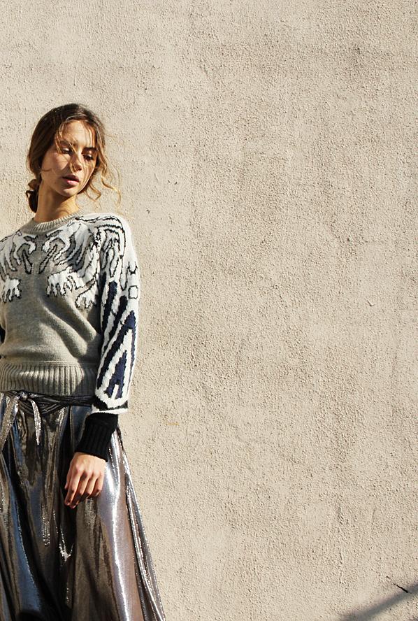 CARVEN Gargouille Jacquard Sweater