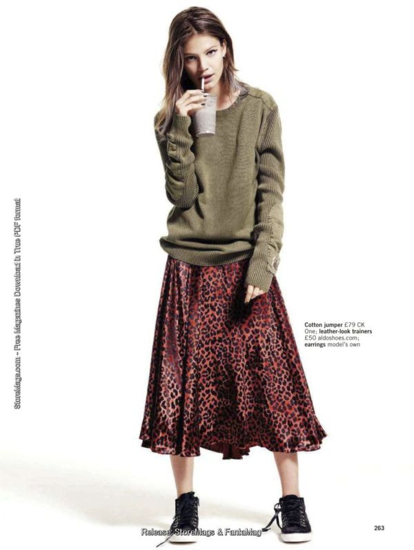 Skirt by Marc by Marc Jacobs. Jumper by CK  Glamour UK December 2011