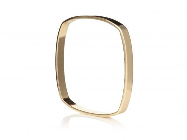 Kurt Geiger Kitty bracelet, gold square bracelet bangle