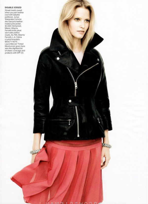 Lara Stone by David Sims US Vogue December 2011