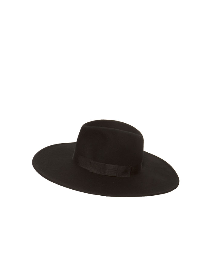 Daily crave  Zara black cartwheel hat with grosgrain band…  ab639b08939