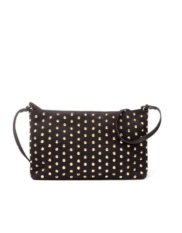 Clutch bag with tacks, studded clutch bag, zara bags,