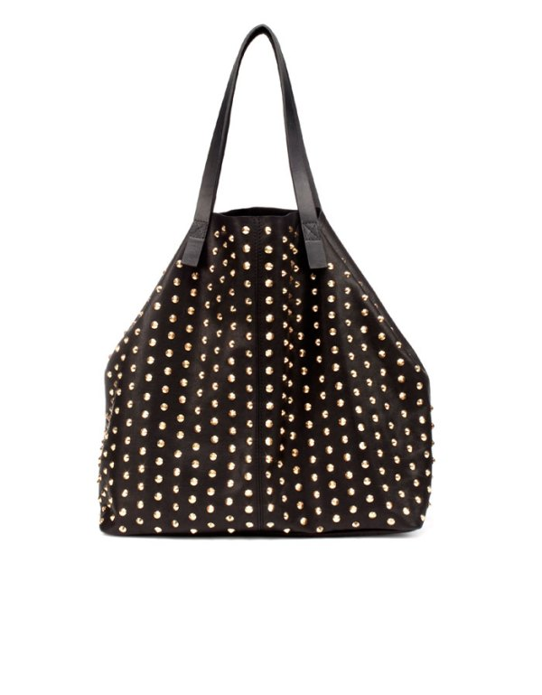 Zara studded tote bag, large tote bags, tote bags,