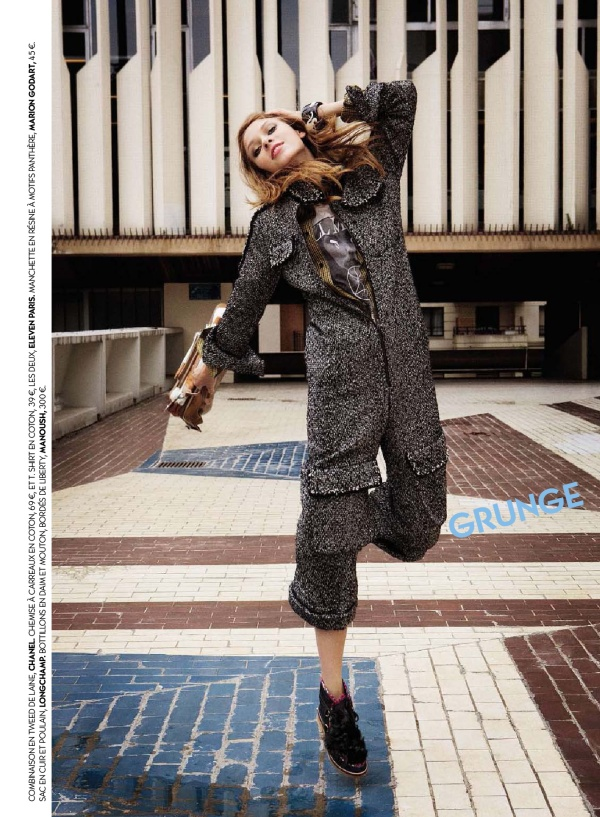Chanel Fantasy tweed jumpsuit winter 2011 Photographed by Claudia Pasanasi