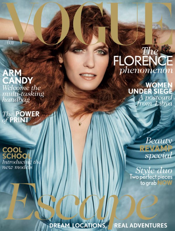 Florence Welch by Mario Testino UK Vogue January 2012