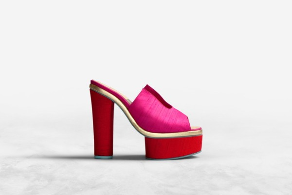 Acne Audrey silk platfrom mules  Acne Spring 2012 collection