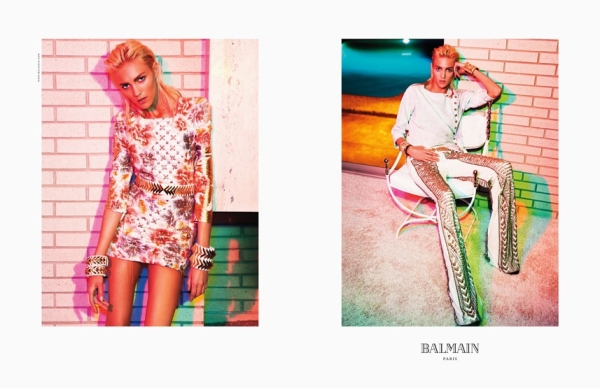 Anja Rubik for Balmain S/S 2012 advertising campaign photographed by Inez & Vinoodh