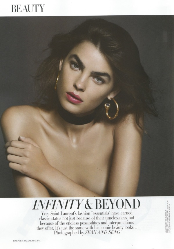 Bambi Northwood-Blyth by Sean and Seng Harper's Bazaar Australia Jan/Feb 2012 yves saint laurent hoop earrings jewellery