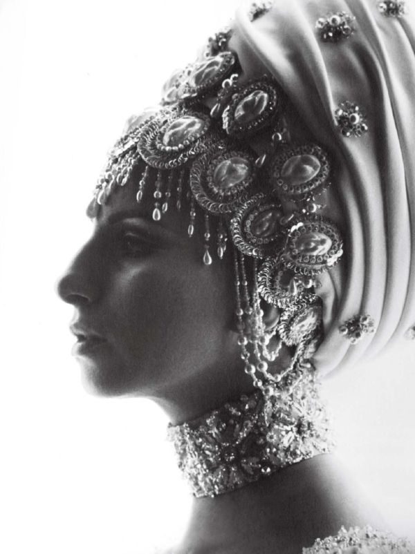 Barbra Streisand by Lawrence Schiller, headwraps, V #75 Spring 2012