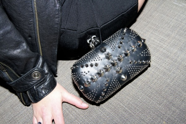 Alexander McQueen studded brittania box clutch, photgrapher the cobrasnake