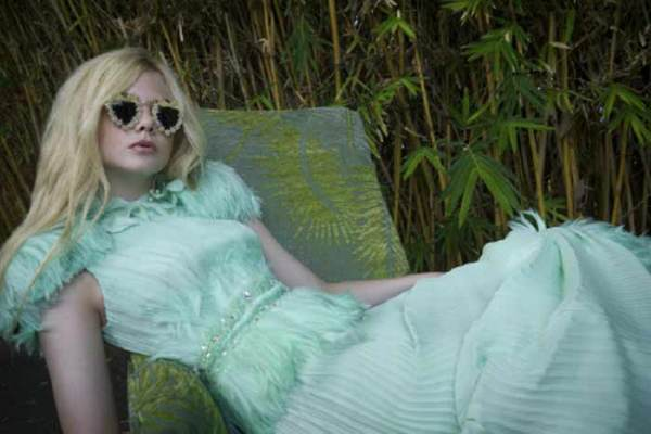 Elle Fanning by Bill Owens @ Rodarte designers, Kate & Laura Mulleavy's home, state of California