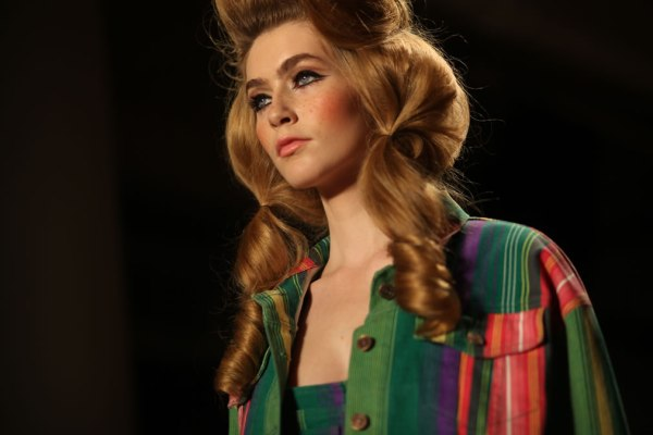 Jeremy Scott Spring/Summer 2012 Barbie does Dallas hair created by Eugene Souleiman