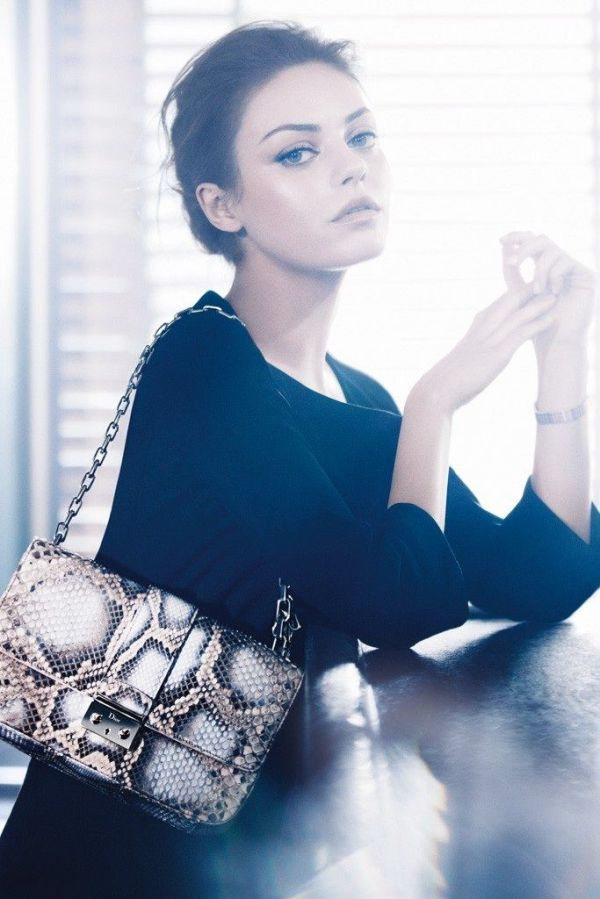 actress Mila Kunis photographer Mikael Jansson Christian Dior Miss Dior Handbags S/S 2012 advertising campaign